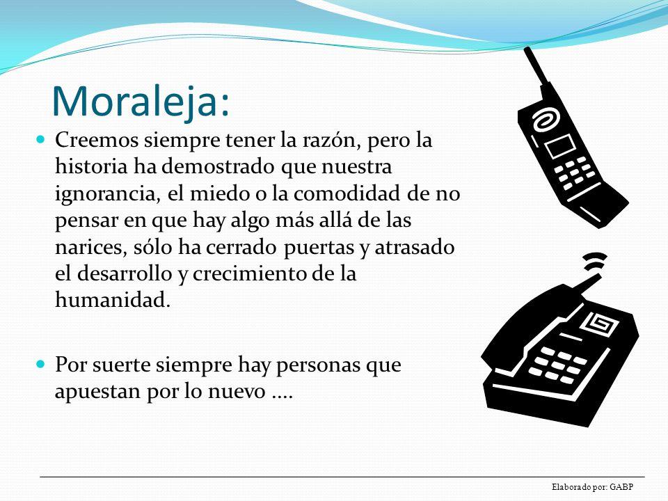 Materia Moraleja: