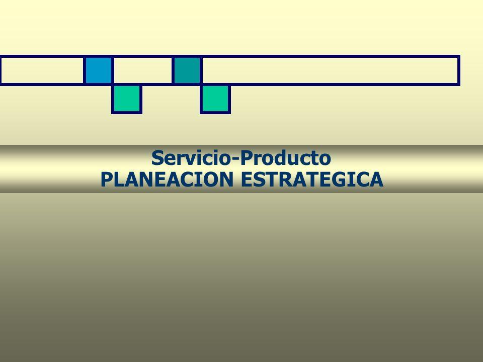 Servicio-Producto PLANEACION ESTRATEGICA
