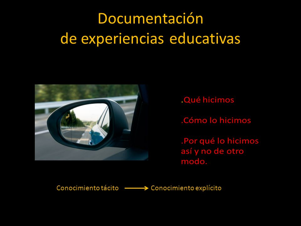Documentación de experiencias educativas