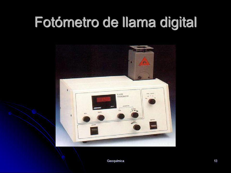 Fotómetro de llama digital