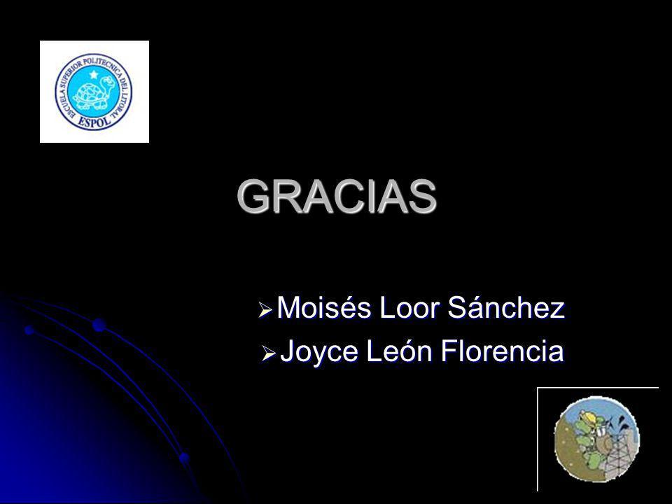 Moisés Loor Sánchez Joyce León Florencia
