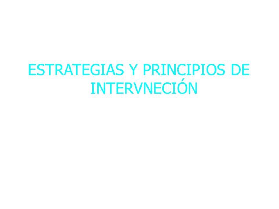ESTRATEGIAS Y PRINCIPIOS DE INTERVNECIÓN