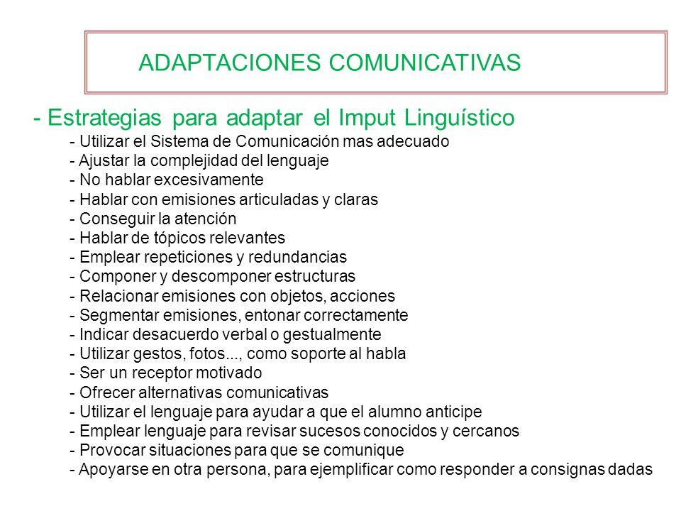ADAPTACIONES COMUNICATIVAS
