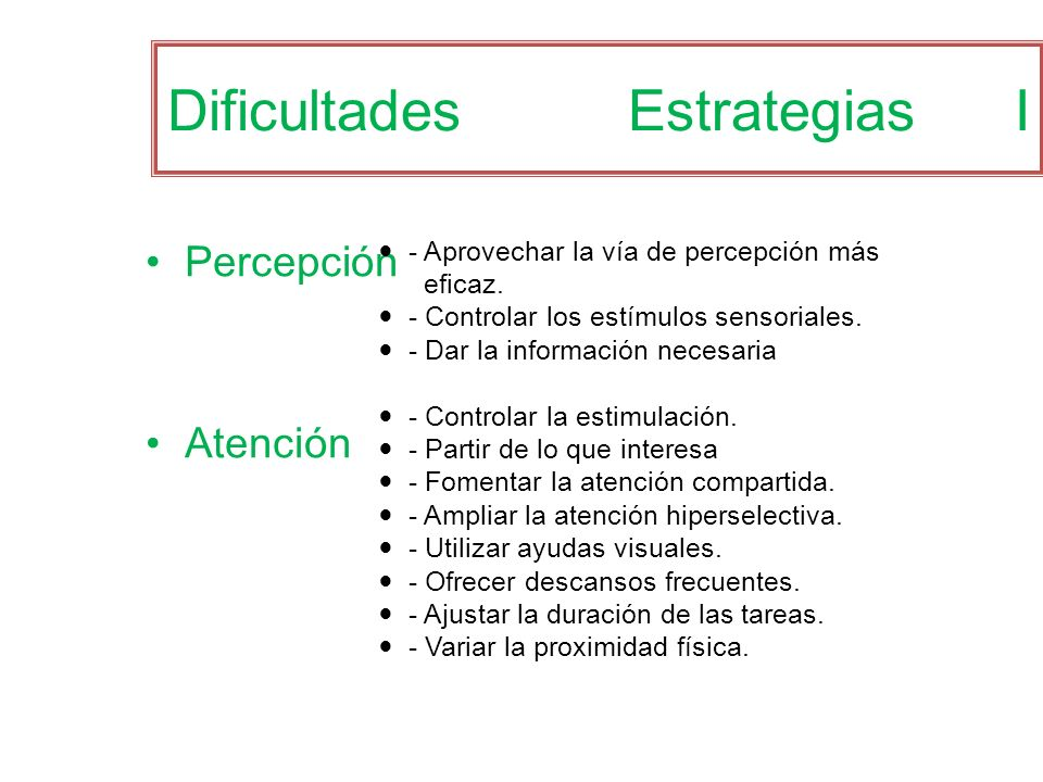Dificultades Estrategias I