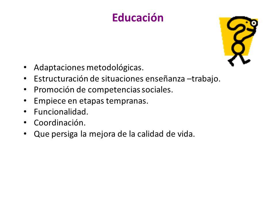 Educación Adaptaciones metodológicas.