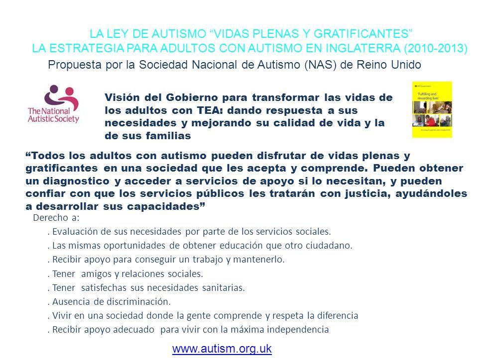 LA LEY DE AUTISMO VIDAS PLENAS Y GRATIFICANTES