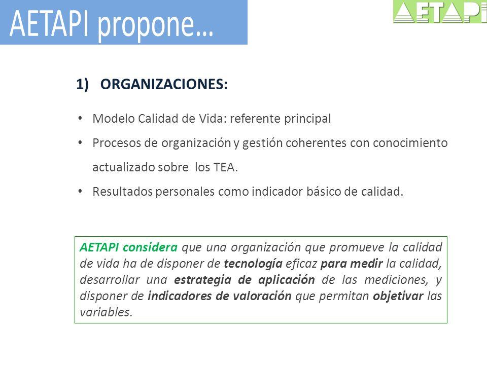 AETAPI propone… ORGANIZACIONES: