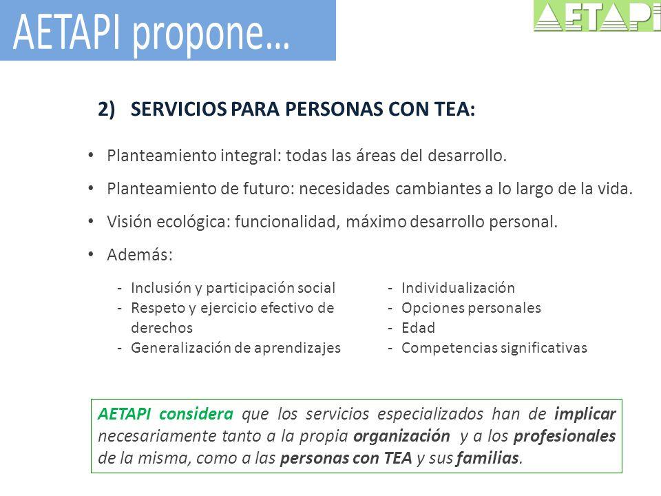 AETAPI propone… SERVICIOS PARA PERSONAS CON TEA: