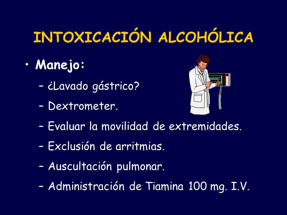 INTOXICACIÓN ALCOHÓLICA