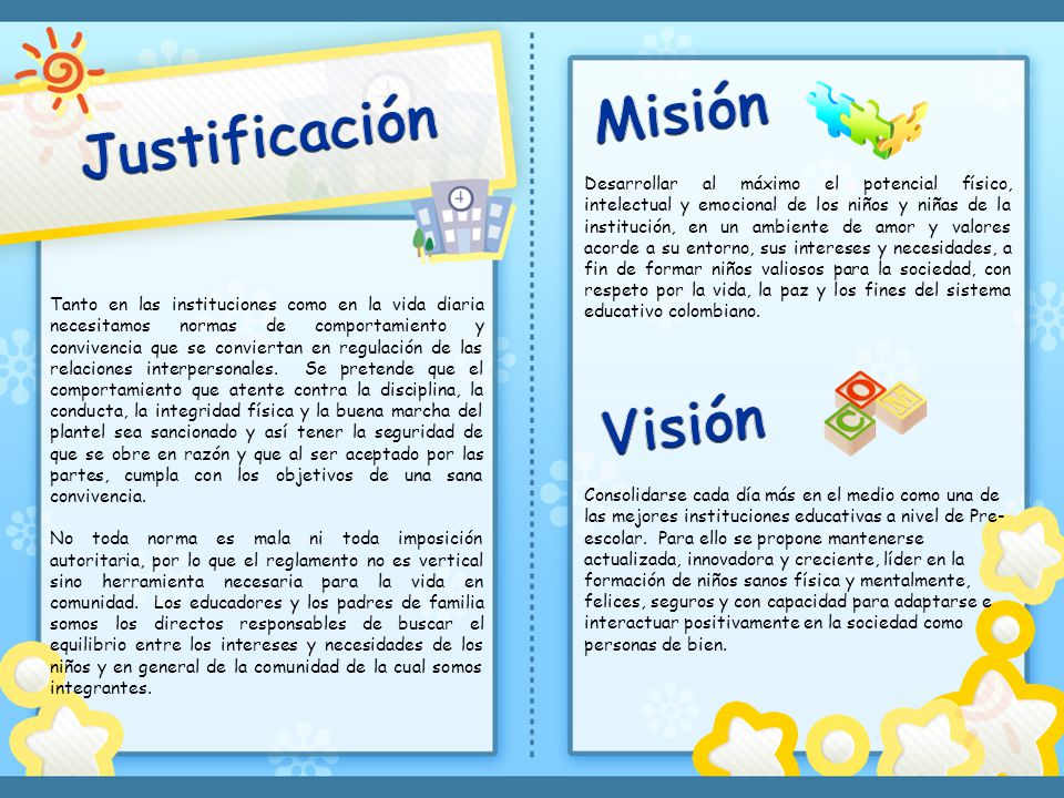 Misión Justificación Visión