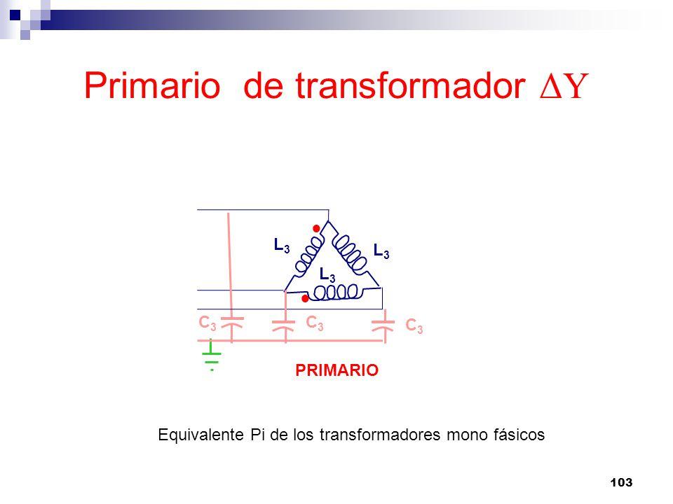 Primario de transformador ΔY