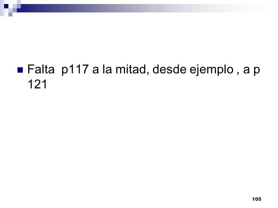 Falta p117 a la mitad, desde ejemplo , a p 121