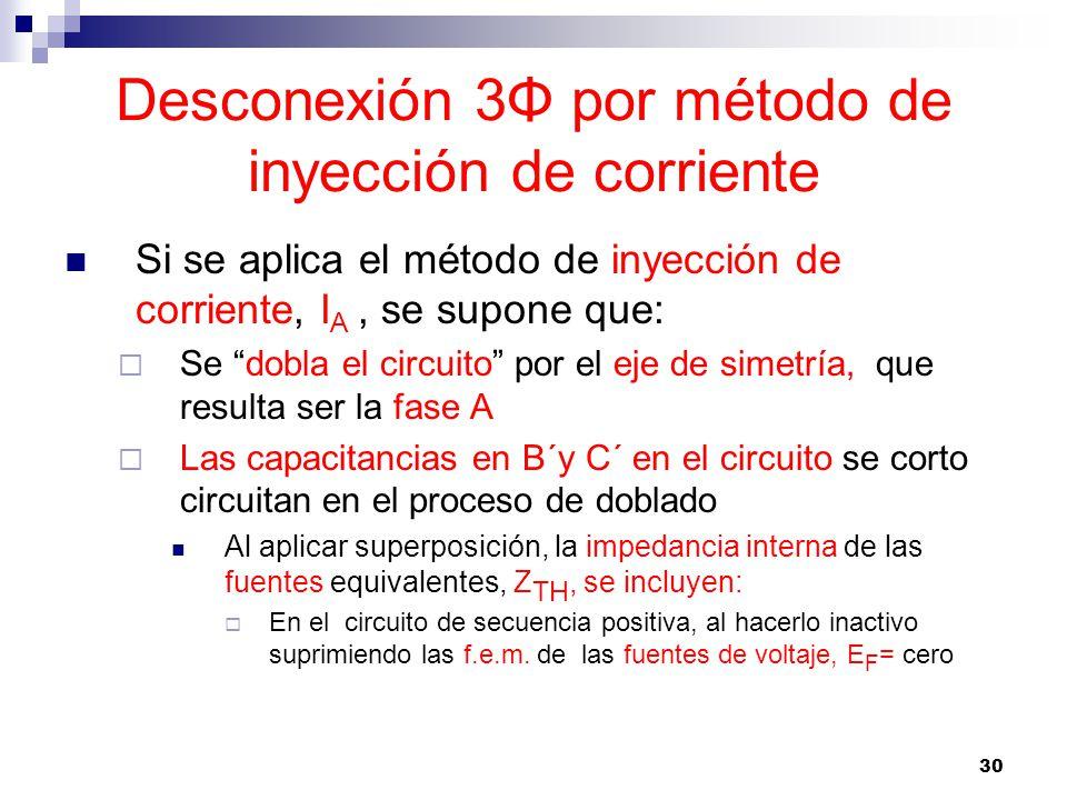 Desconexión 3Φ por método de inyección de corriente
