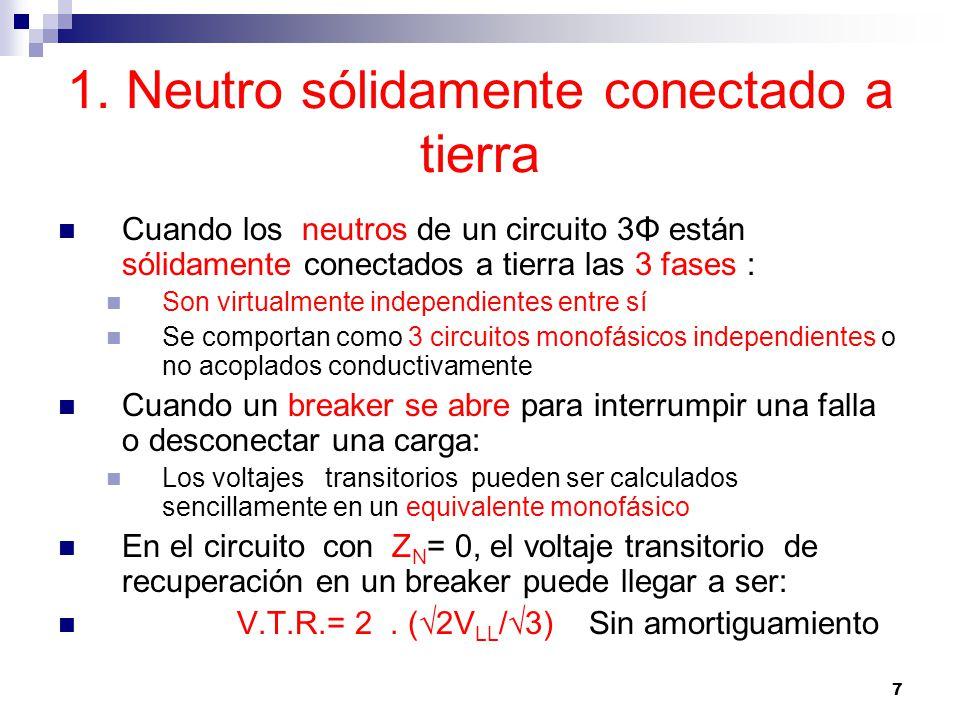 1. Neutro sólidamente conectado a tierra