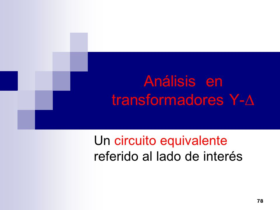 Análisis en transformadores Y-Δ