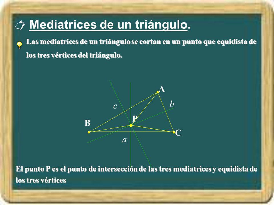  Mediatrices de un triángulo.