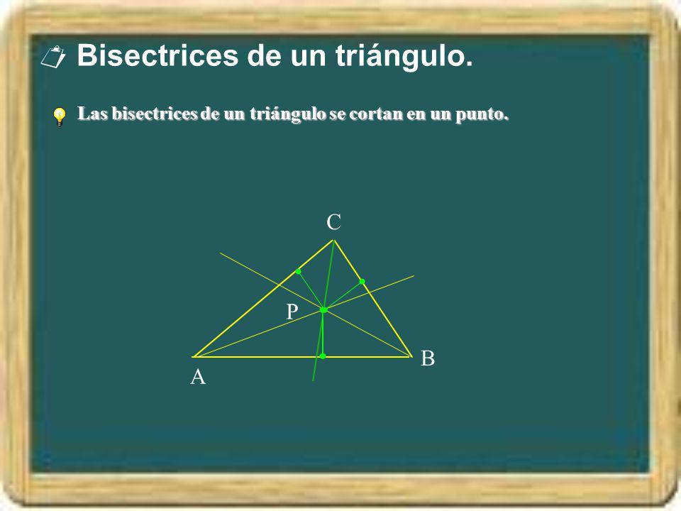  Bisectrices de un triángulo.