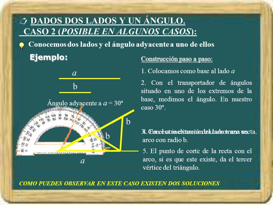 DADOS DOS LADOS Y UN ÁNGULO. CASO 2 (POSIBLE EN ALGUNOS CASOS):