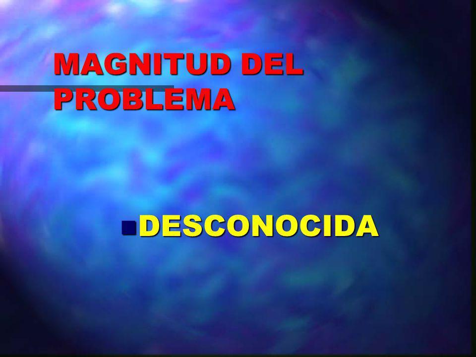 MAGNITUD DEL PROBLEMA DESCONOCIDA
