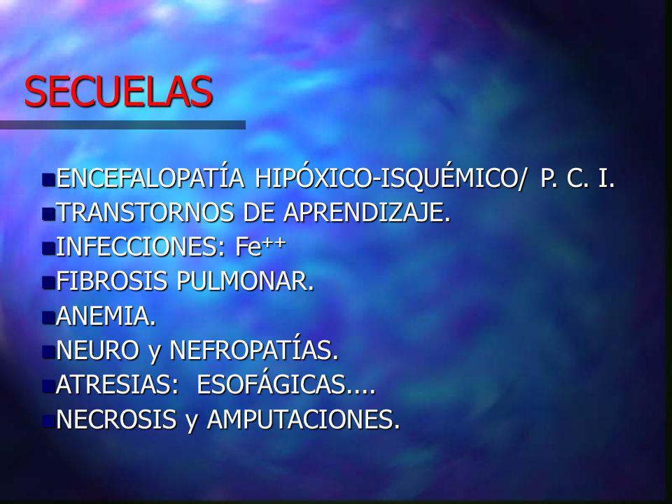SECUELAS ENCEFALOPATÍA HIPÓXICO-ISQUÉMICO/ P. C. I.