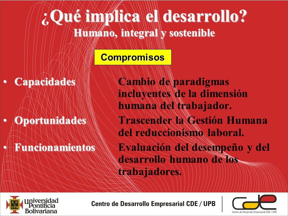 ¿Qué implica el desarrollo Humano, integral y sostenible