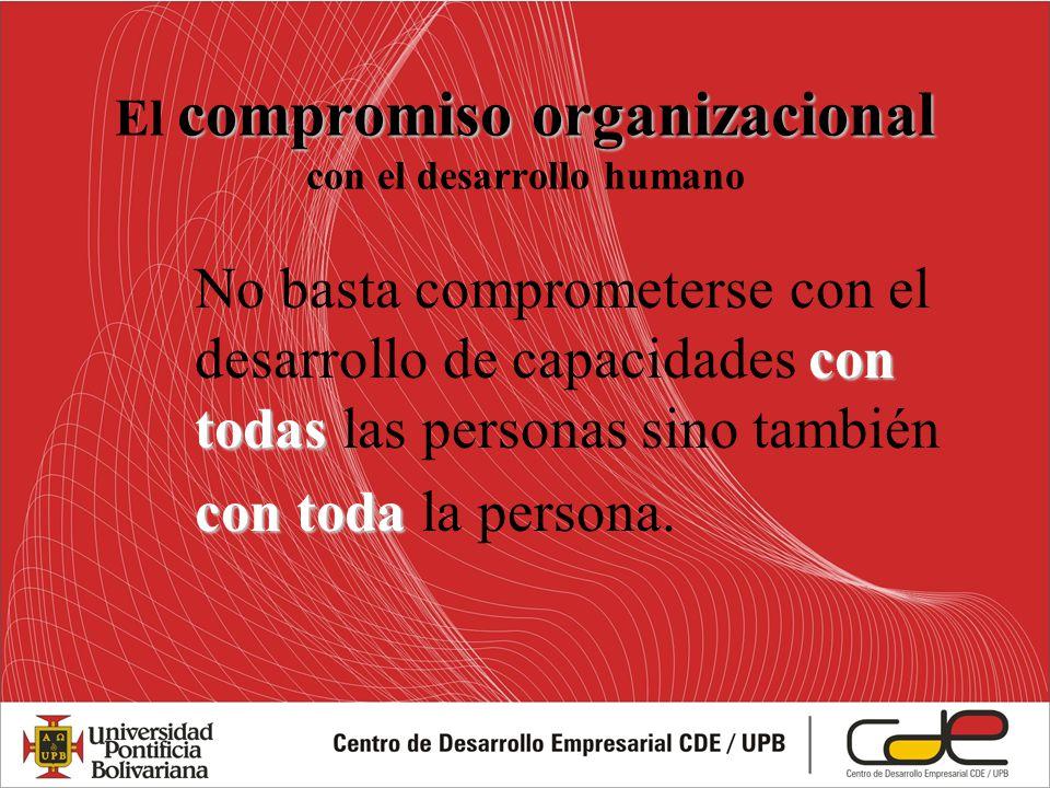 El compromiso organizacional con el desarrollo humano