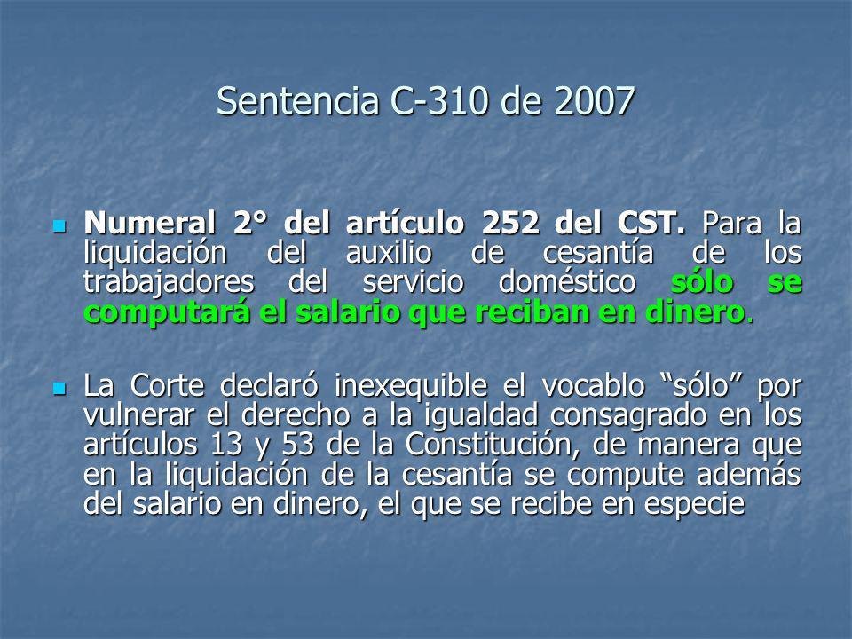 Sentencia C-310 de 2007