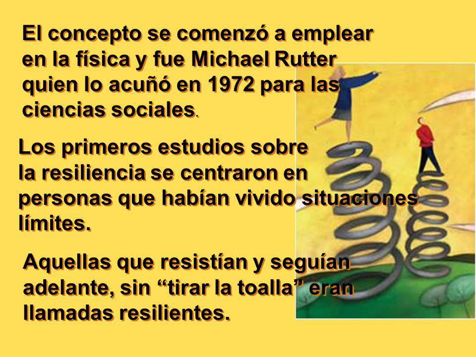 El concepto se comenzó a emplear en la física y fue Michael Rutter quien lo acuñó en 1972 para las ciencias sociales.