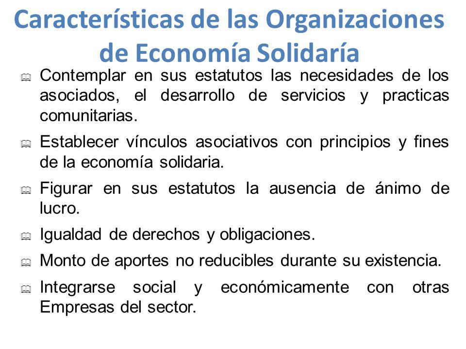 Características de las Organizaciones de Economía Solidaría