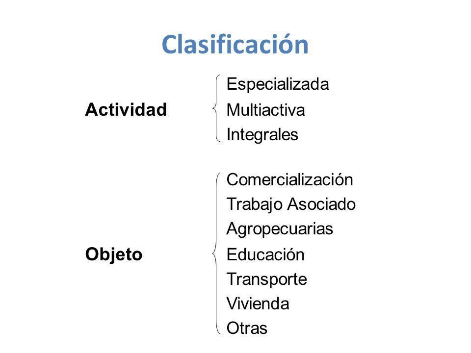 Clasificación Especializada Actividad Multiactiva Integrales