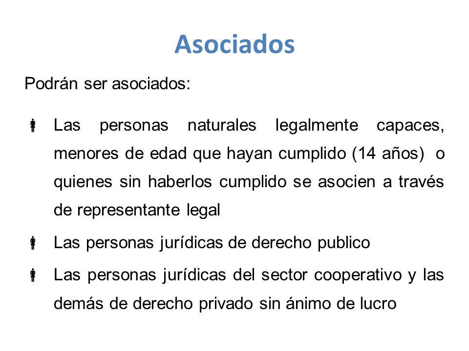 Asociados Podrán ser asociados: