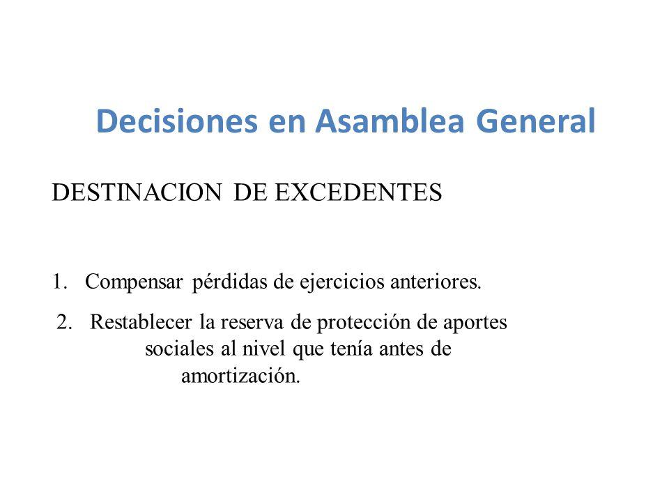 Decisiones en Asamblea General