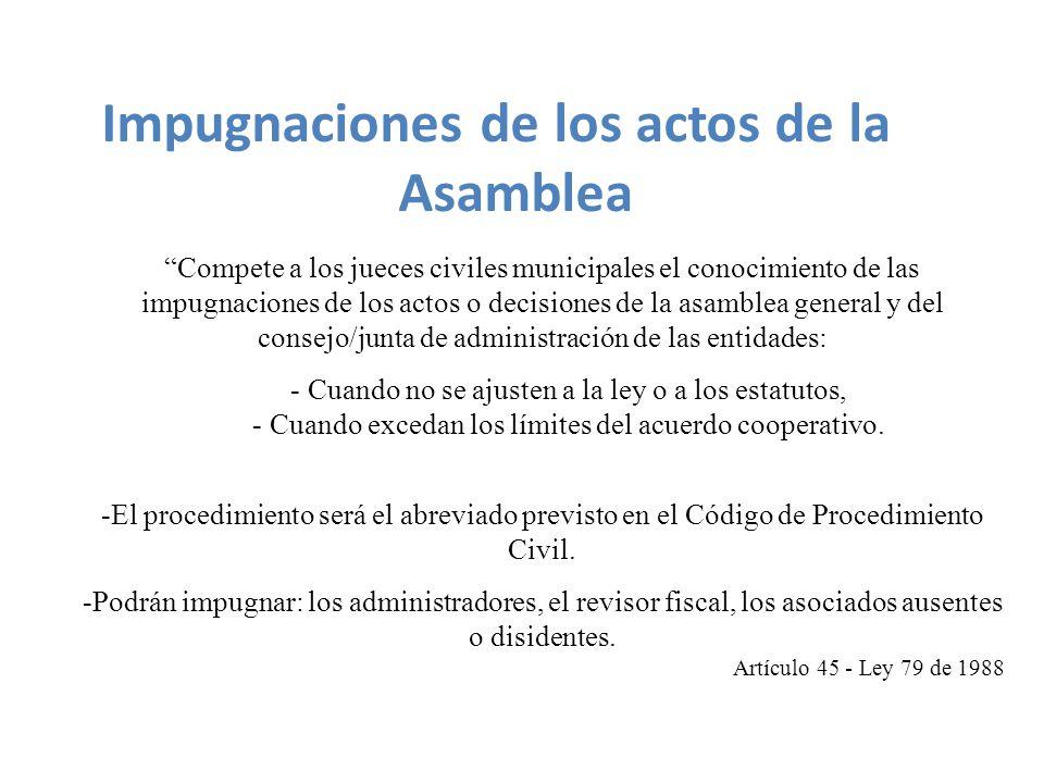 Impugnaciones de los actos de la Asamblea
