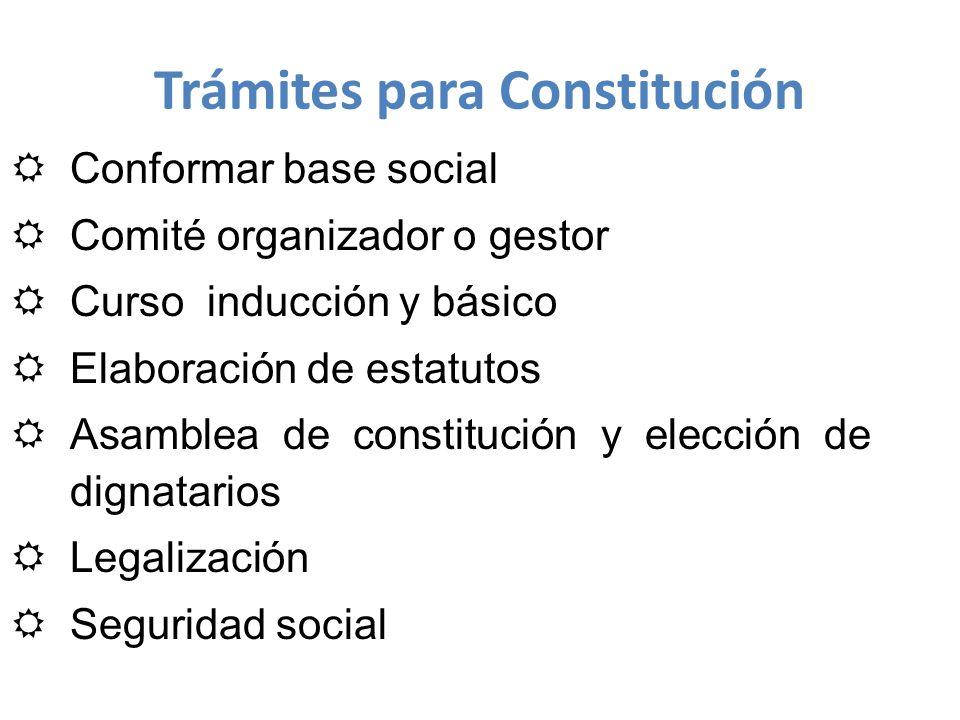 Trámites para Constitución