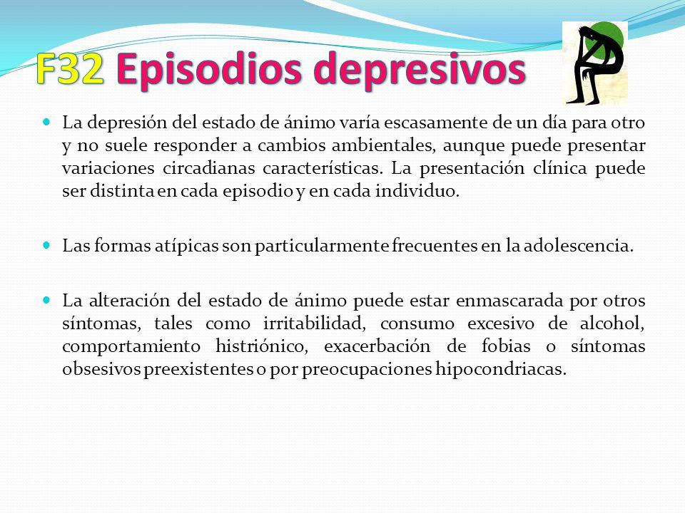 F32 Episodios depresivos