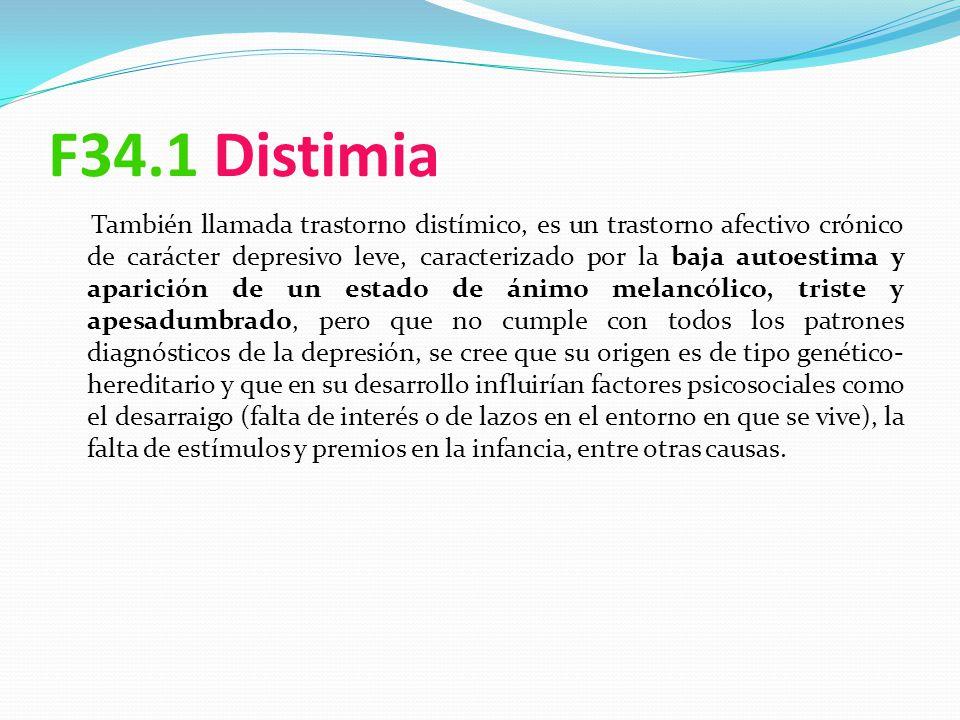 F34.1 Distimia