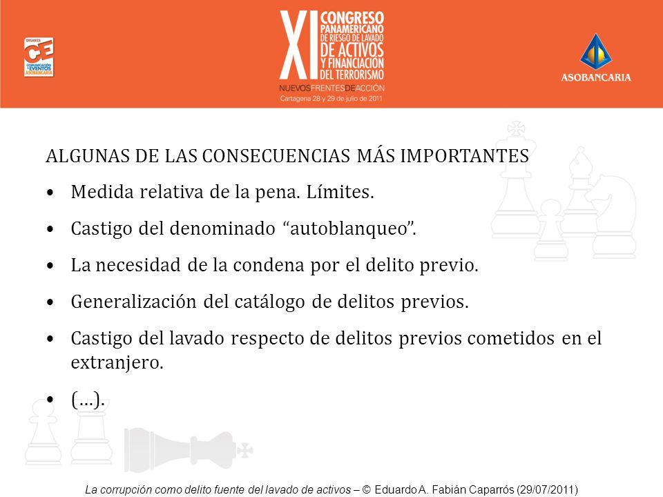 ALGUNAS DE LAS CONSECUENCIAS MÁS IMPORTANTES