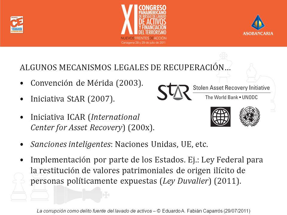 ALGUNOS MECANISMOS LEGALES DE RECUPERACIÓN…