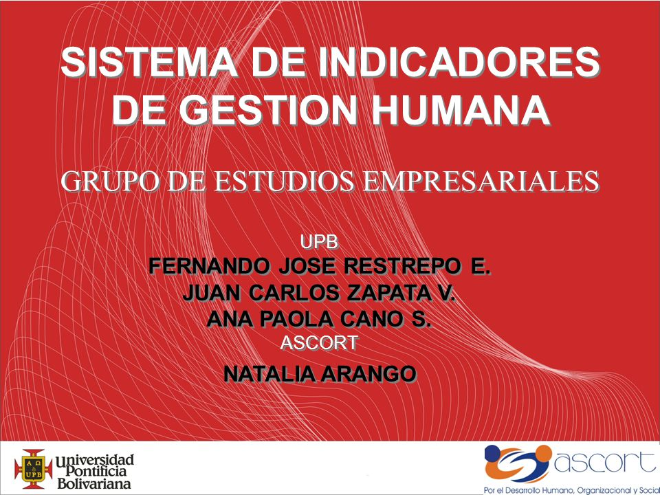 SISTEMA DE INDICADORES DE GESTION HUMANA