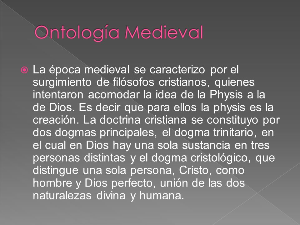 Ontología Medieval