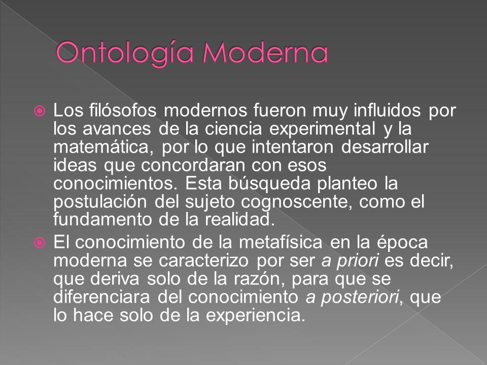 Ontología Moderna