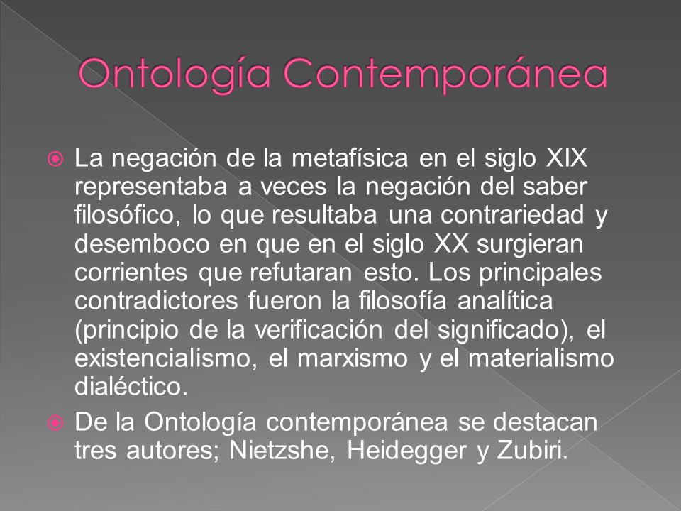 Ontología Contemporánea