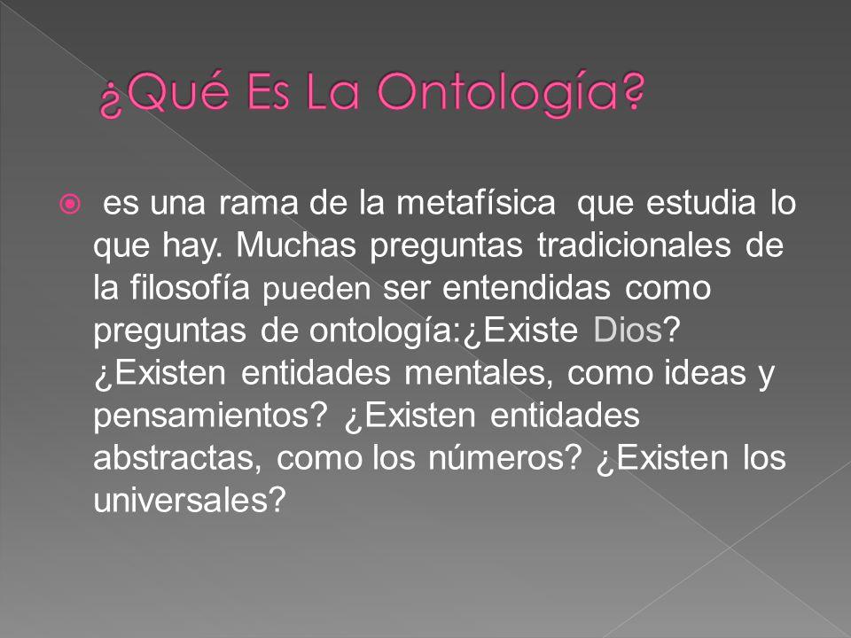 ¿Qué Es La Ontología