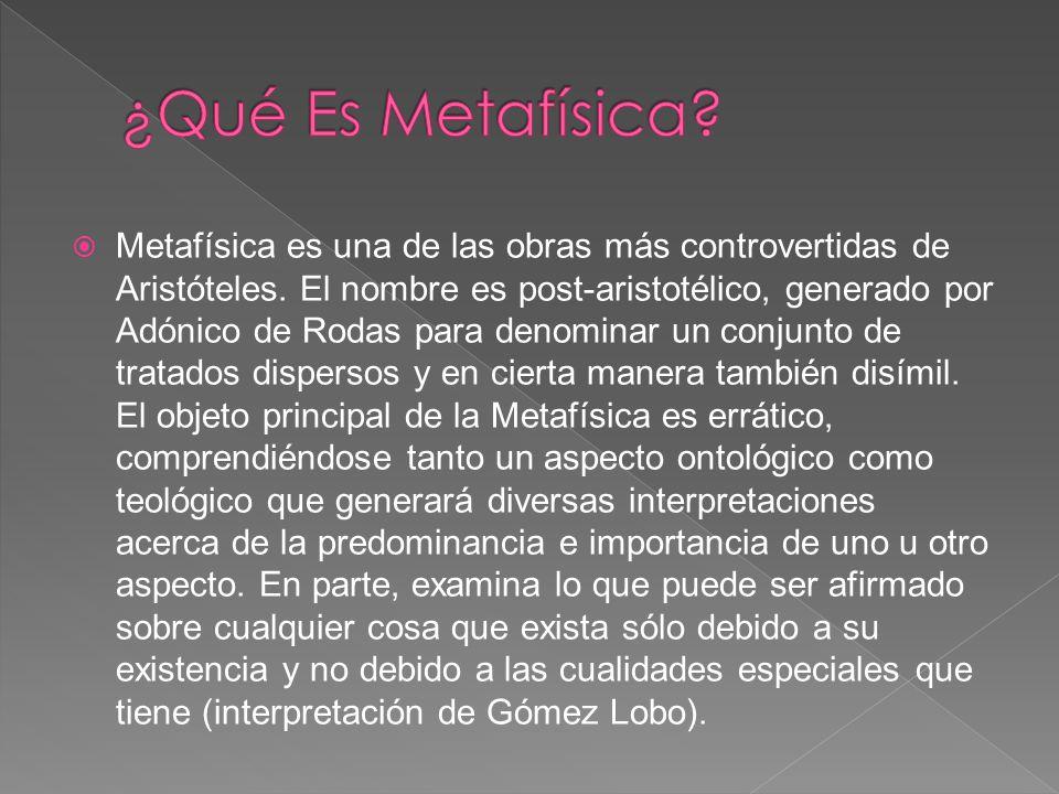 ¿Qué Es Metafísica