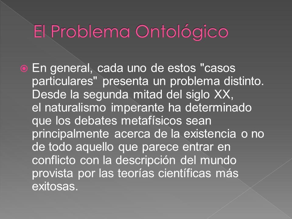 El Problema Ontológico