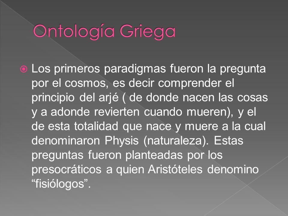 Ontología Griega