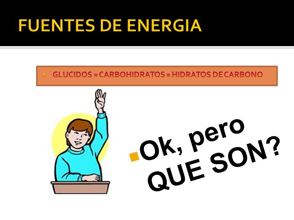 Ok, pero QUE SON FUENTES DE ENERGIA