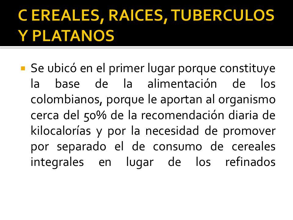 C EREALES, RAICES, TUBERCULOS Y PLATANOS