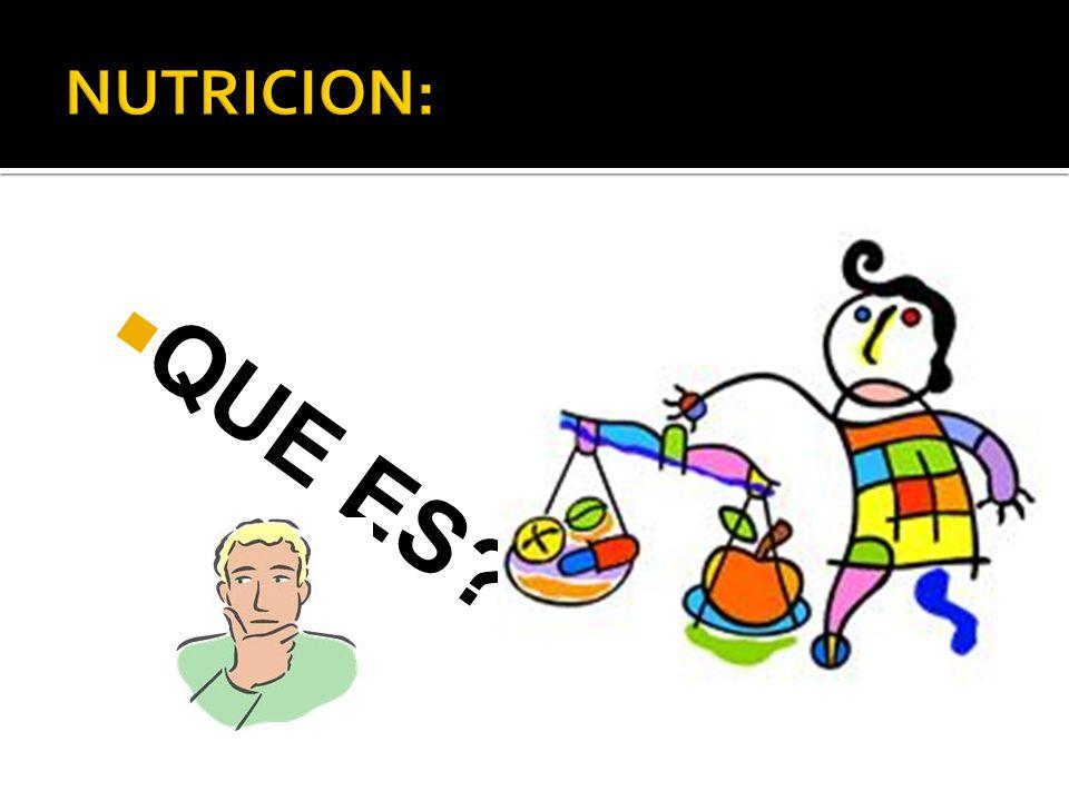 NUTRICION: QUE ES