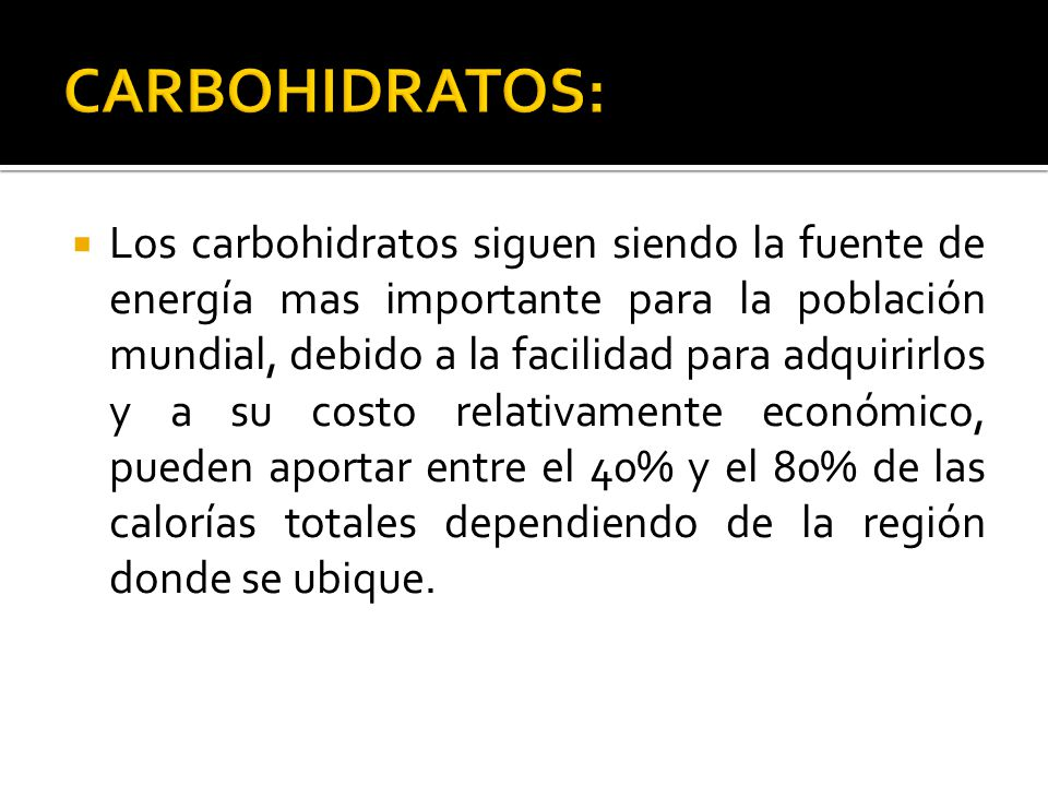 CARBOHIDRATOS: